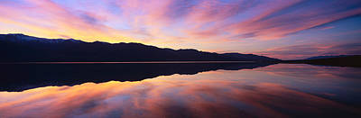 Panoramic View At Sunset Of Flooded Print by Panoramic Images