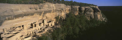 Panoramic View Of Cliff Palace Cliff Print by Panoramic Images