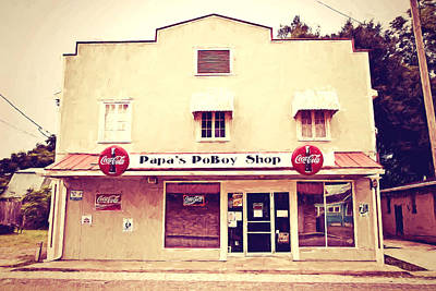 Papa's Poboy Shop Print by Scott Pellegrin