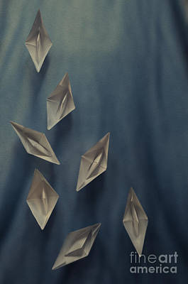 Paper Boats Print by Jelena Jovanovic