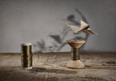 Miniature Photograph - Paper Butterfly by Nailia Schwarz