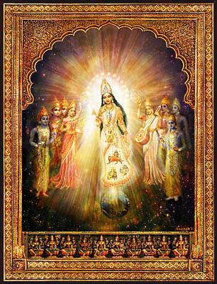 Religious Mixed Media - Parashakti Devi - The Great Goddess In Space by Ananda Vdovic