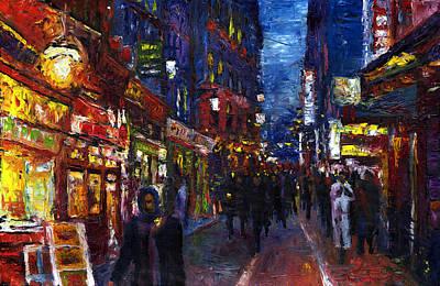 Latin Painting - Paris Quartier Latin 01 by Yuriy  Shevchuk