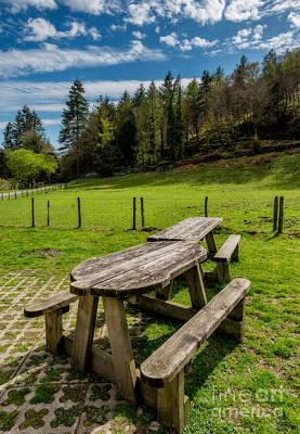 Field Digital Art - Park Bench by Adrian Evans