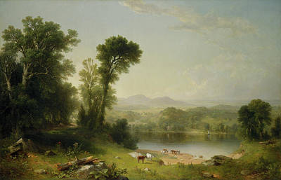 Pastoral Landscape Print by Asher Brown Durand