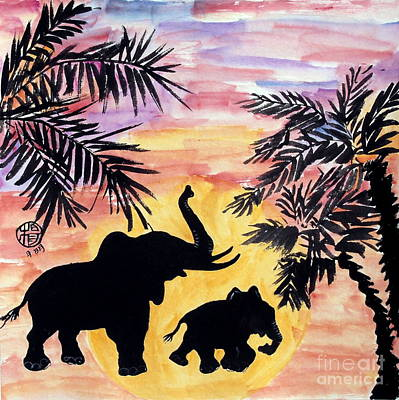 Poachers Painting - On Our Way Back Home by Ming Yeung