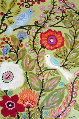 Pleasant Painting - Peace Garden by Karen Fields
