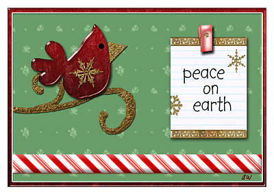 Christmas Cards Digital Art - Peace On Earth by Arline Wagner