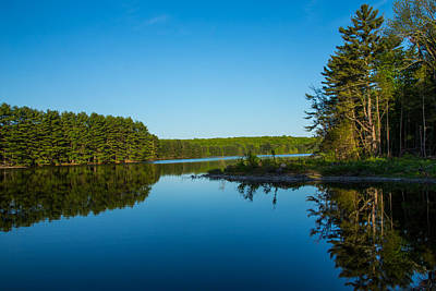 Waterview Photograph - Peaceful Blue by Karol Livote