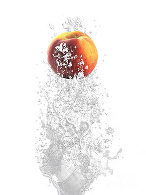 Peach Splash Print by Marvin Blaine