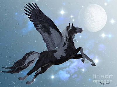 Pegasus Digital Art - Pegasus Flight by Corey Ford