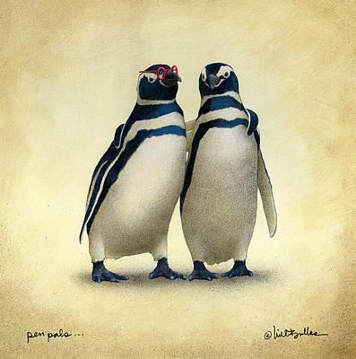 Pen Pals... Original by Will Bullas
