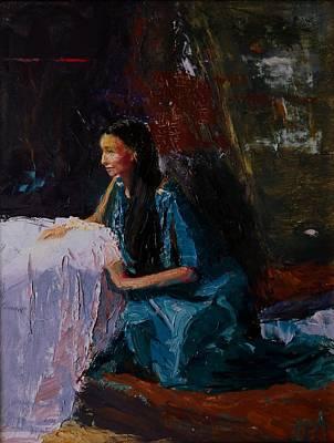 Apprehension Painting - Penelope by Irena  Jablonski