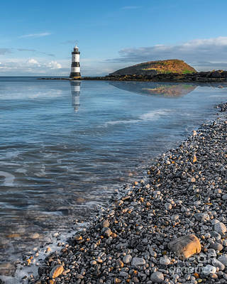 Pebbles Digital Art - Penmon Point Lighthouse by Adrian Evans