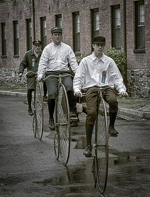 Waltham Photograph - Penny Farthing Bikes by Rick Mosher