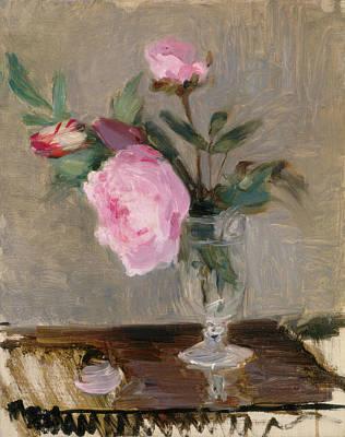 Peony Painting - Peonies by Berthe Morisot