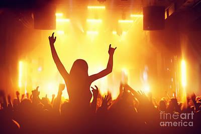 Applaud Photograph - People Having Fun In Night Club by Michal Bednarek