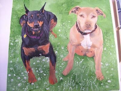 Pet Portrait Original Oil Painting By Pigatopia Print by Shannon Ivins