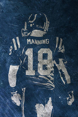 Indianapolis Painting - Peyton Manning Colts 2 by Joe Hamilton
