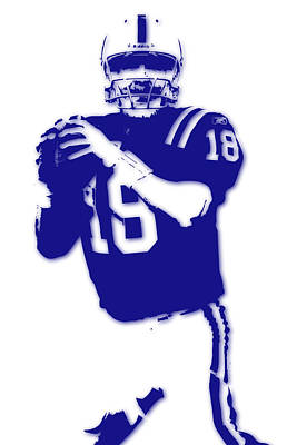Peyton Manning Colts Print by Joe Hamilton