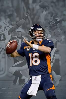 Peyton Manning Denver Broncos Print by Joe Hamilton