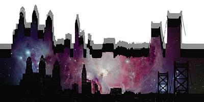 Abstract Digital Art - Philadelphia 3 by Alberto RuiZ