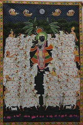 Shri Krishna Painting - Pichwai 9 by Unknown
