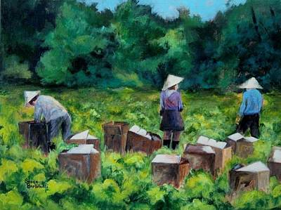 Picking Romaine Print by Susan Bartolacci