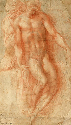 Redeemer Drawing - Pieta by Michelangelo Buonarroti