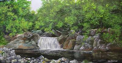Painting - Pikes Falls by Ken Ahlering
