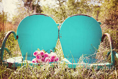 Lawn Chairs Photograph - Pink Roses  by Kim Fearheiley