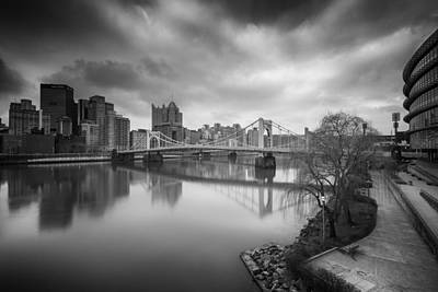 Pittsburgh Architecture  102 Bw Print by Emmanuel Panagiotakis