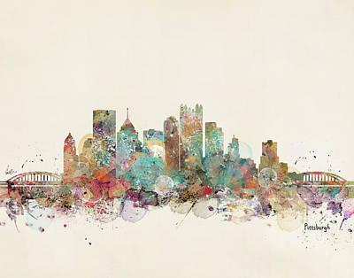 Colourfull Painting - Pittsburgh by Bri B