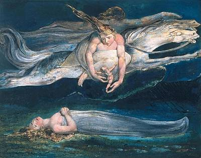 Angel Painting - Pity  by William Blake