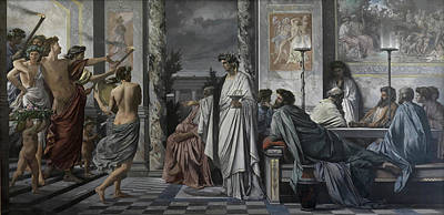 Meal Painting - Plato's Symposium by Anselm Feuerbach