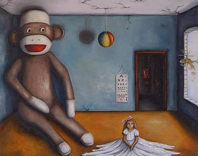 Helicopter Painting - Playroom Nightmare by Leah Saulnier The Painting Maniac