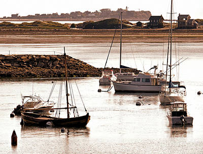 Plymouth Harbor At Low Tide Print by Janice Drew