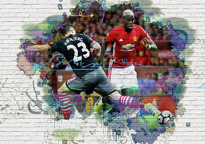 Wayne Rooney Digital Art - Pogba Street Art by Don Kuing