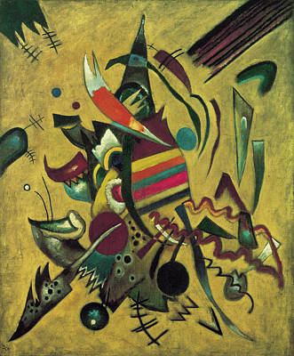 Expressionist Art Painting - Points  by Wassily Kandinsky