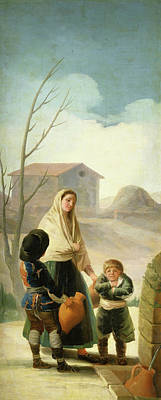 Children Painting - Poor Children At The Well by Francisco Goya