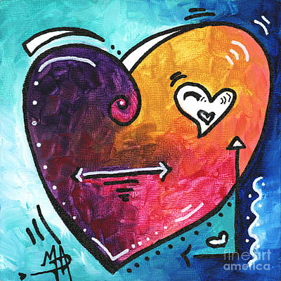 Whimsical Painting - Pop Of Love Heart Painting Fun Upbeat And Colorful Pop Art By Megan Duncanson by Megan Duncanson
