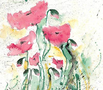 Poppies 10 Print by Ismeta Gruenwald