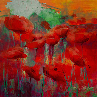 Poppies Print by Dorina  Costras