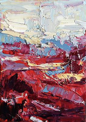 Oil Painting - Poppy Fields by NatikArt Creations