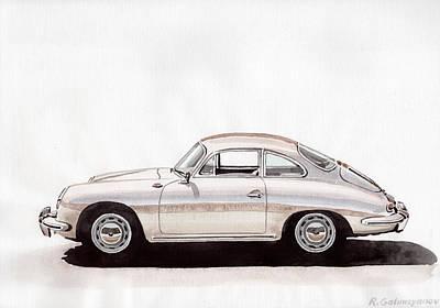 Car Painting - Porsche 356 by Rimzil Galimzyanov