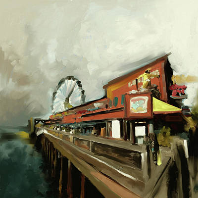 Airport Painting - Port Of Seattle II 485 II by Mawra Tahreem