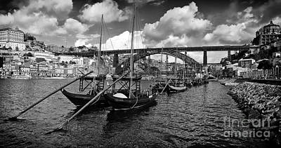 Old Photograph - Port Wine Boats In Porto City by Jose Elias - Sofia Pereira