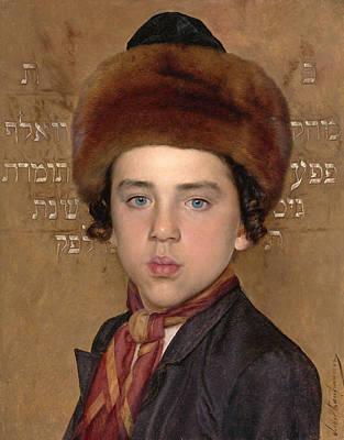 Isidor Kaufmann Painting - Portrait Of A Boy by Isidor Kaufmann