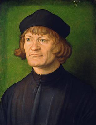 Durer Painting - Portrait Of A Clergyman by Albrecht Durer