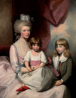 18th Century Painting - Portrait Of A Family by Gilbert Stuart